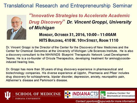 Translational research and entrepreneurship seminar icbi indiana vincentgroppi flyer jps malvernweather Images